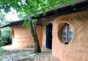 Round Windows Superadobe House
