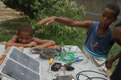 Testing solar panels