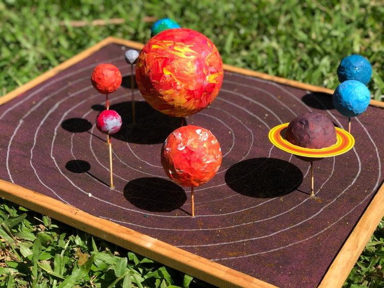 Solar system styrofoam balls homeschooling planet schooling
